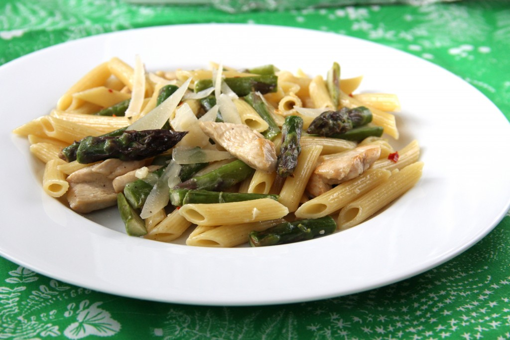 Springtime Asparagus and Chicken Pasta
