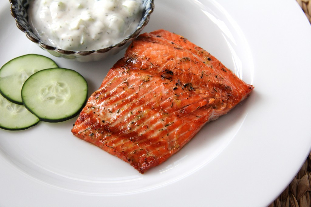 Copper River Salmon with Cucumber Dill Sauce