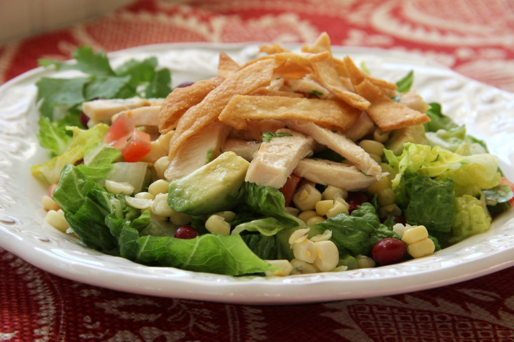 Mexican Chicken Salad with Cilantro Lime Vinaigrette