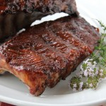 4th of July Rubbed Barbecue Pork Back Ribs