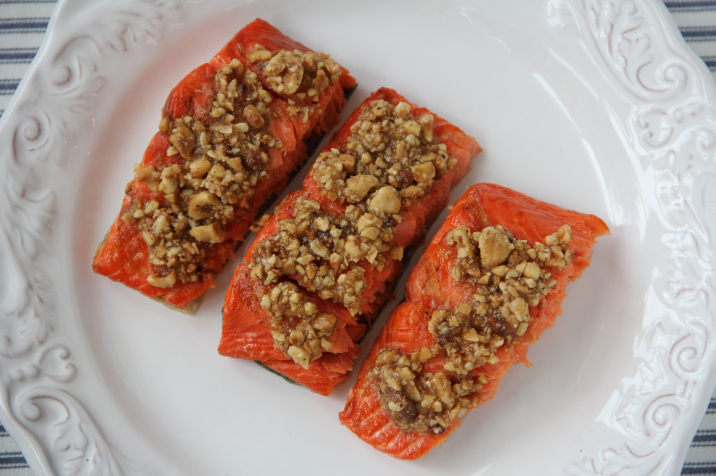Hazelnut Butter Grilled Salmon