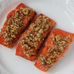 Roasted Hazelnut Grilled Salmon