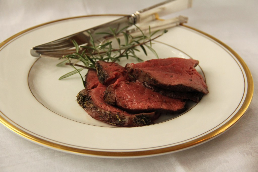 Herb Roasted Beef Tenderloin with Horseradish Sauce