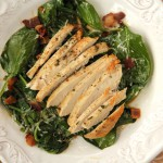 Rosemary Chicken Wilted Spinach Salad