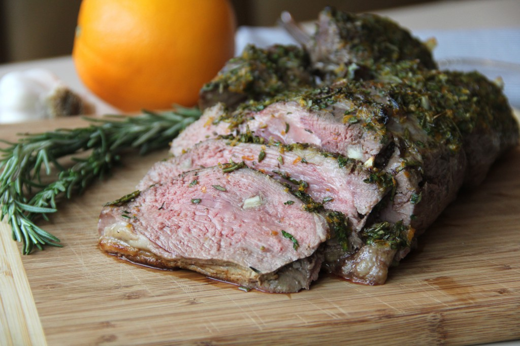 Herb Roasted Butterflied Leg of Lamb