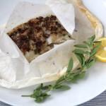 Mediterranean Parchment Baked Cod