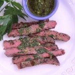 Grilled Hanger Steak with Chimichurri Sauce