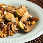 Roasted Brussels Sprouts Skillet Pasta