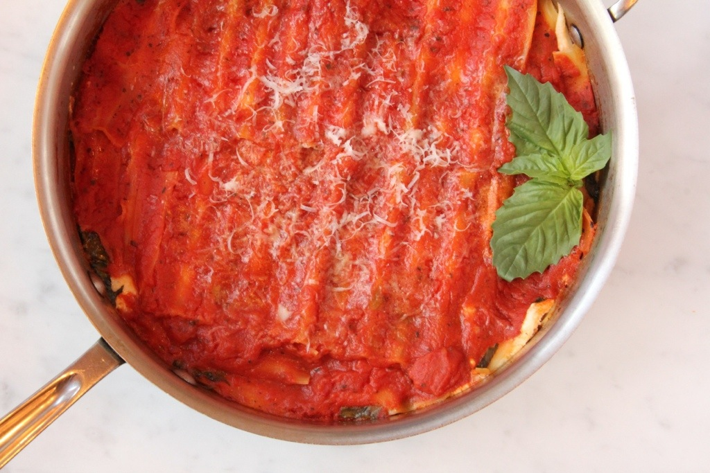 Skillet Lasagna with Fresh Mozzarella
