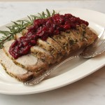 Fennel Rosemary Orange Roasted Pork Loin with Cranberry Sauce
