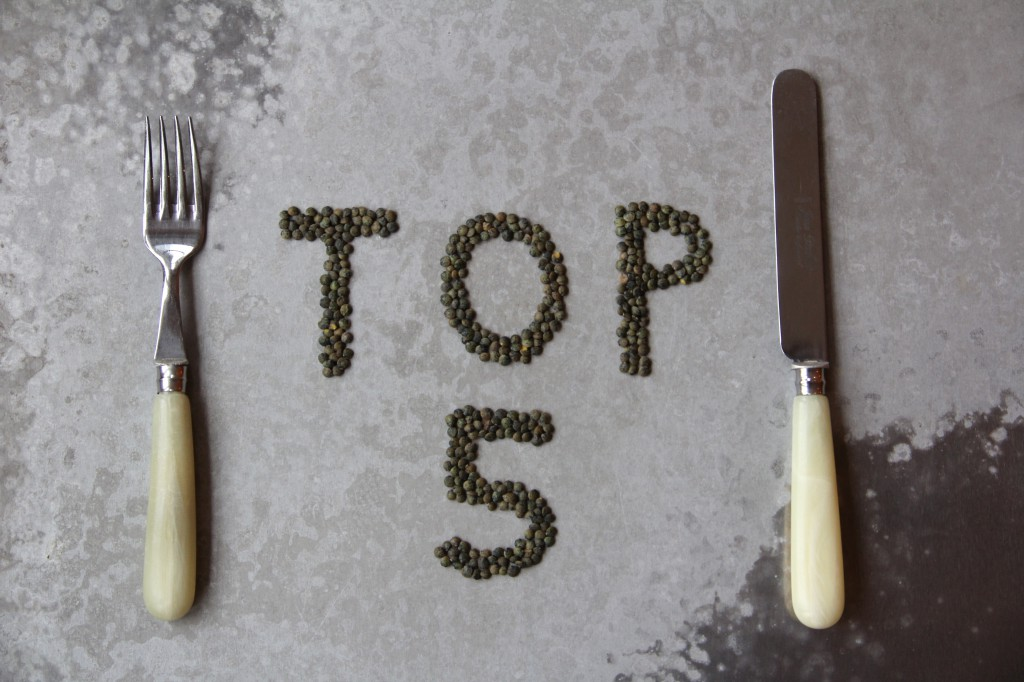 Top Five Recipes From 2012