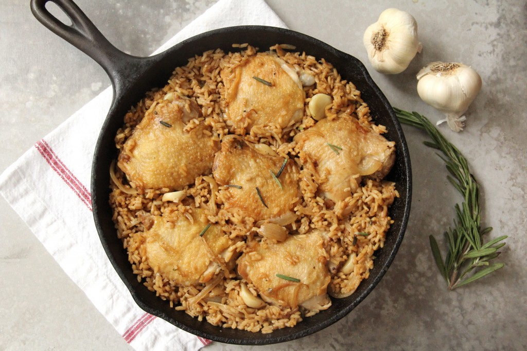 45-Minute Rosemary Garlic Chicken and Rice