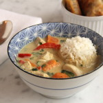 30-Minute Green Curry Chicken with Sweet Potato and Red Pepper
