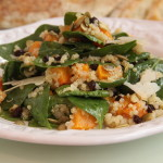Spinach Butternut Squash and Quinoa Salad