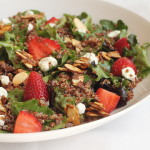 Strawberry Quinoa Green Salad