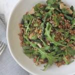 Springtime Asparagus Arugula & Chicken Bowl