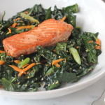 Seared Salmon with Sesame Kale Salad