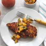 Indian Grilled Chicken with Fresh Peach Relish