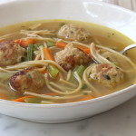 Chicken Tarragon Meatball Soup