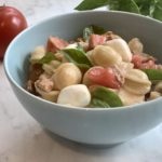 Revisiting Orechiette with Heirloom Tomatoes, Basil and Chicken Sausage